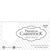 """Great White - Core'dinations Value Pack Smooth Cardstock 12""""X12"""" 20/Pkg"""