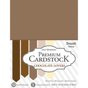 """Chocolate Lovers - Core'dinations Value Pack Smooth Cardstock 8.5""""X11"""" 50/Pkg"""