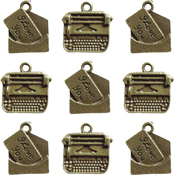 Love Note & Typewriter Charms - Ken Oliver Vintage Embellishments