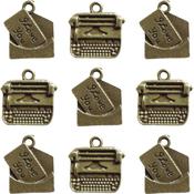 Love Note & Typewriter Charms - Ken Oliver Vintage Embellishments