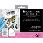 Butterfly Garden - Spectrum Noir Colorista Marker Card Making Kit W/ Glitter