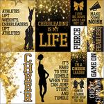"Cheerleading Poster Stickers 12""X12"""
