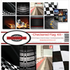 "Checkered Flag - Reminisce Collection Kit 12""X12"""