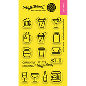 """Currently Drinking - Waffle Flower Crafts Clear Stamps 2""""X3"""""""