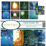 "Fairy Forest W/Fireflies & Unicorn - Reminisce Collection Kit 12""X12"""