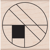 """Large Circle Grid - Hero Arts Mounted Rubber Stamp 2""""X2"""""""