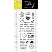 "Goal Planner - Kelly Purkey Clear Stamps 2.5""X6"""