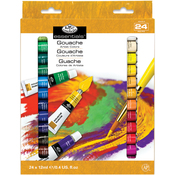 Assorted Colors - Gouache Acrylic Paints - 24/Pkg