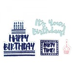 It's Your Birthday - Sizzix Framelits Dies W/Stamps By Lindsey Serata