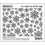"Snow Flakes - Darkroom Door Background Cling Stamp 4""X6"""