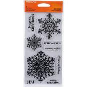 "Merry & Bright - Fiskars Clear Stamps 4""X8"""