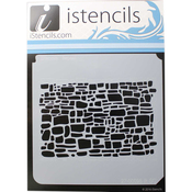 "Stone Walled - iStencils 11""X11"""