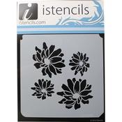 "Chrysanthemum Flowers - iStencils 11""X11"""