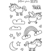 """Unicorn - Jane's Doodles Clear Stamps 4""""X6"""""""