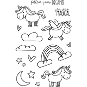 "Unicorn - Jane's Doodles Clear Stamps 4""X6"""