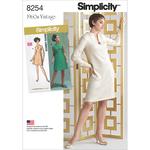 10-12-14-16-18 - Simplicity Misses / Plus Size Dress 8254