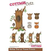 """Hollow Tree W/ Forest Friends, 3.1""""X4.5"""" - CottageCutz Die"""