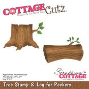 "Tree Stump & Log for Peekers, 2"" To 3.1"" - CottageCutz Die"