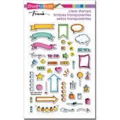 """Journal Bullets - Stampendous Perfectly Clear Stamps 7.25""""X4.625"""""""