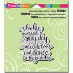 """Cute Boots - Stampendous Cling Stamp 4.75""""X4.5"""""""