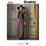 4-6-8-10-12 - SIMPLICITY MISSES' MAXI DRESS WITH LINED VEST AND TIE