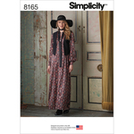 12-14-16-18-20 - SIMPLICITY MISSES' MAXI DRESS WITH LINED VEST AND TIE