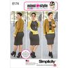 6-8-10-12-14 - SIMPLICITY MISSES' LINED JACKET AND KNIT DRESS FROM MIMI G S