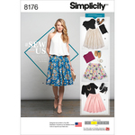 14-16-18-20-22 - SIMPLICITY MISSES' DIRNDL SKIRTS IN THREE LENGTHS