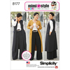 10-12-14-16-18 - SIMPLICITY MIMI G STYLE PANTS, COAT OR VEST, AND KNIT TOP FO