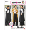 20W-28W - SIMPLICITY MIMI G STYLE PANTS, COAT OR VEST, AND KNIT TOP FO