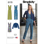 14-16-18-20-22 - SIMPLICITY MISSES' JUMPSUIT WITH TWO LEG WIDTHS, DRESS AND J