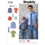 S - L / S - XL - SIMPLICITY BOYS' AND MEN'S SHIRT, BOXER SHORTS AND TIE