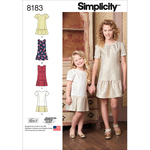 7-8-10-12-14 - SIMPLICITY CHILD'S AND GIRLS' DRESS OR JUMPER WITH SKIRT VAR
