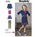8-10-12-14-16 - SIMPLICITY GIRLS' AND GIRLS' PLUS SKIRT AND KNIT TOP, CARDIG