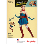 14-16-18-20-22 - SIMPLICITY D.C BOMBSHELLS SUPER GIRL COSTUME FOR MISS