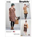 12-14-16-18-20 - SIMPLICITY MISSES' DOTTIE ANGEL FROCK: WRAP & SLIP DRESS