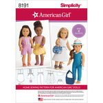 ONE SIZE - SIMPLICITY AMERICAN GIRL DOLL CLOTHES FOR 18 DOLL
