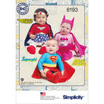 XXS-XS-S-M-L - SIMPLICITY BABIES' SUPER HERO COSTUMES