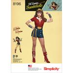 6-8-10-12-14 - SIMPLICITY D.C. BOMBSHELLS WONDER WOMAN COSTUME