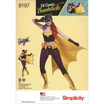 14-16-18-20-22 - SIMPLICITY D.C. BOMBSHELLS BAT GIRL COSTUME