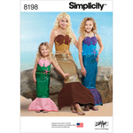ALL SIZES - SIMPLICITY CHILD'S, GIRLS' AND MISSES' MERMAID COSTUMES