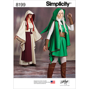 14-16-18-20-22 - SIMPLICITY MISSES' GAMING WARRIOR COSTUMES