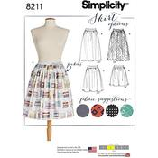 4-6-8-10-12 - SIMPLICITY MISSES' DIRNDL SKIRTS IN THREE LENGTHS