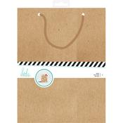 """Heidi Swapp Gift Bags 2/Pkg 8.25""""X10.75"""" Kraft -"""
