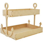 Beyond The Page MDF Anchor Shelf W/2 Trays - KaiserCraft