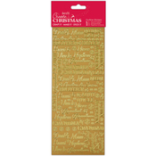 Relations Gold - Papermania Create Christmas Outline Stickers