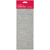 Relations Silver - Papermania Create Christmas Outline Stickers