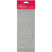 Verses Silver - Papermania Create Christmas Outline Stickers
