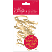 Gold - Papermania Create Christmas Foiled Words Stickers