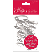 Silver - Papermania Create Christmas Foiled Words Stickers